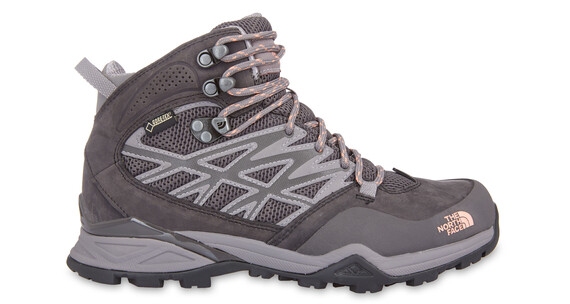 The North Face Hedgehog Hike Mid GTX Shoes Women q-silver grey/punch orange